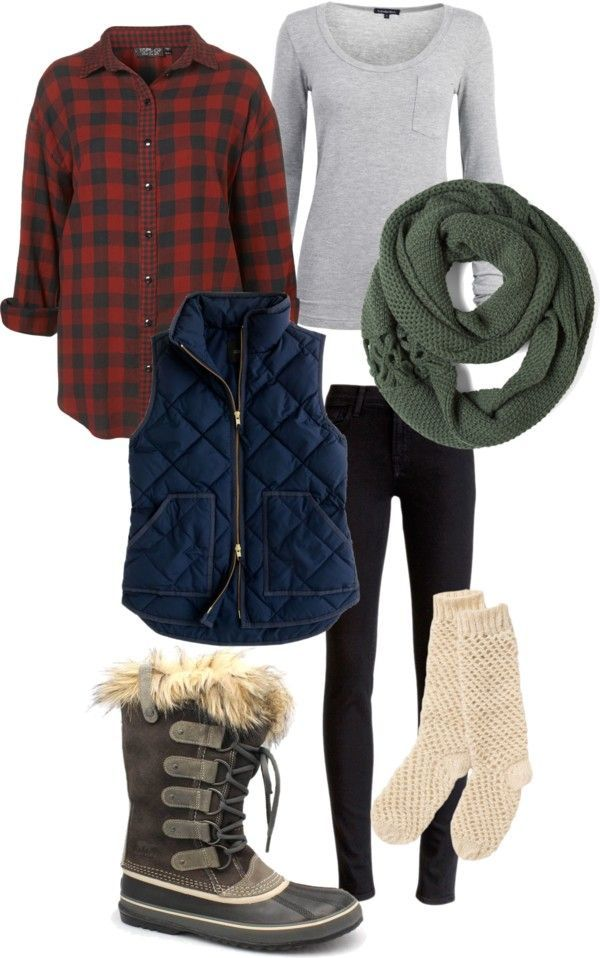 """""""Winter Hike"""" - the perfect outfit for an early morning snow hike. """"Nature has no mercy at all. Nature says, """"I'm going to snow. If you have on a bikini and no snowshoes, that's tough. I am going to snow anyway."""" - Maya Angelou"""