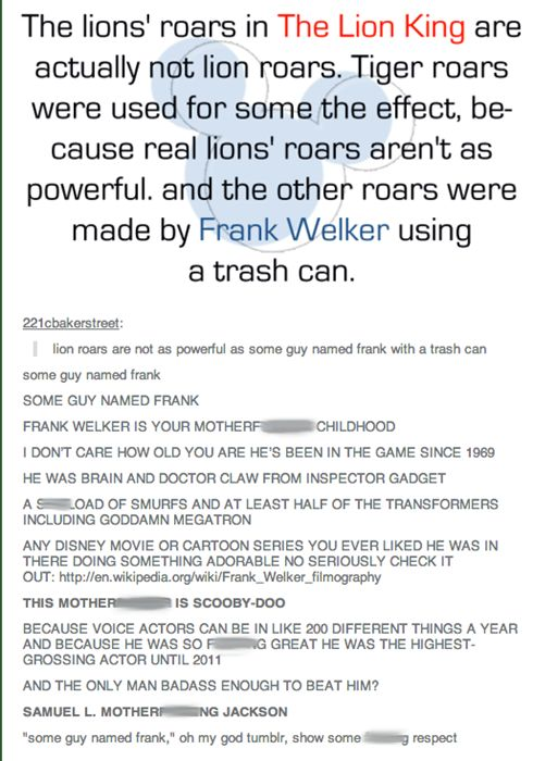 Frank Welker is Not Just SOME GUY