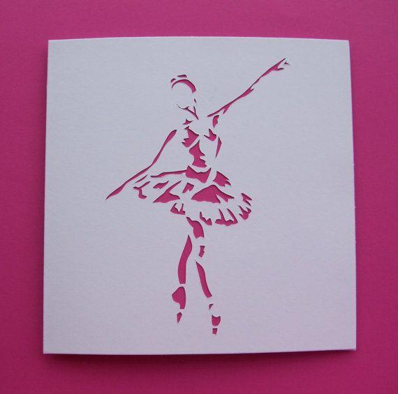 Handmade Ballet Card - Ballerina Card - Paper Cut ...
