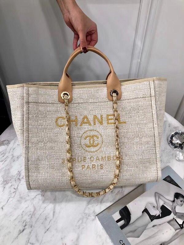 1468c5751 Chanel woman cabas beach tote bag original leather version | luxury ...