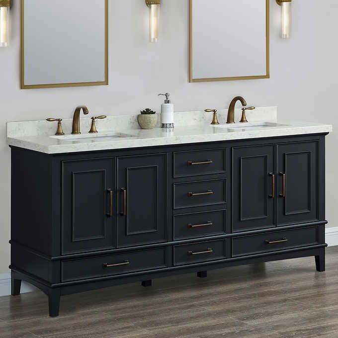 Parker Midnight 72 Double Sink Vanity By Mission Hills In 2020