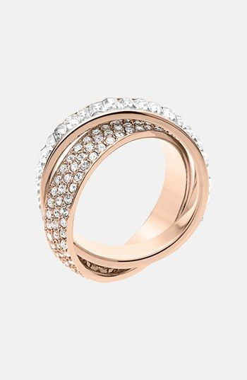 MICHAEL Michael Kors Michael Kors 'Brilliance' Crystal Intertwined Ring available at #Nordstrom