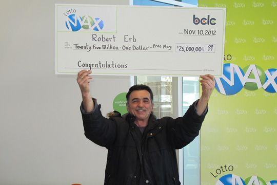 Terrace man wins $25 million LOTTO MAX jackpot