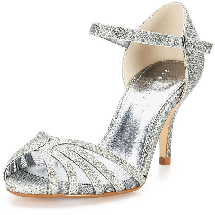 Shoe Box Judy Mid Heel Sparkle Sandals on shopstyle.co.uk