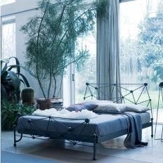 Refresh your bedroom with our stylish #Ciacci #Astro #Modern #Wrought #Iron #Bed https://www.belvisifurniture.co.uk/bedroom-furniture