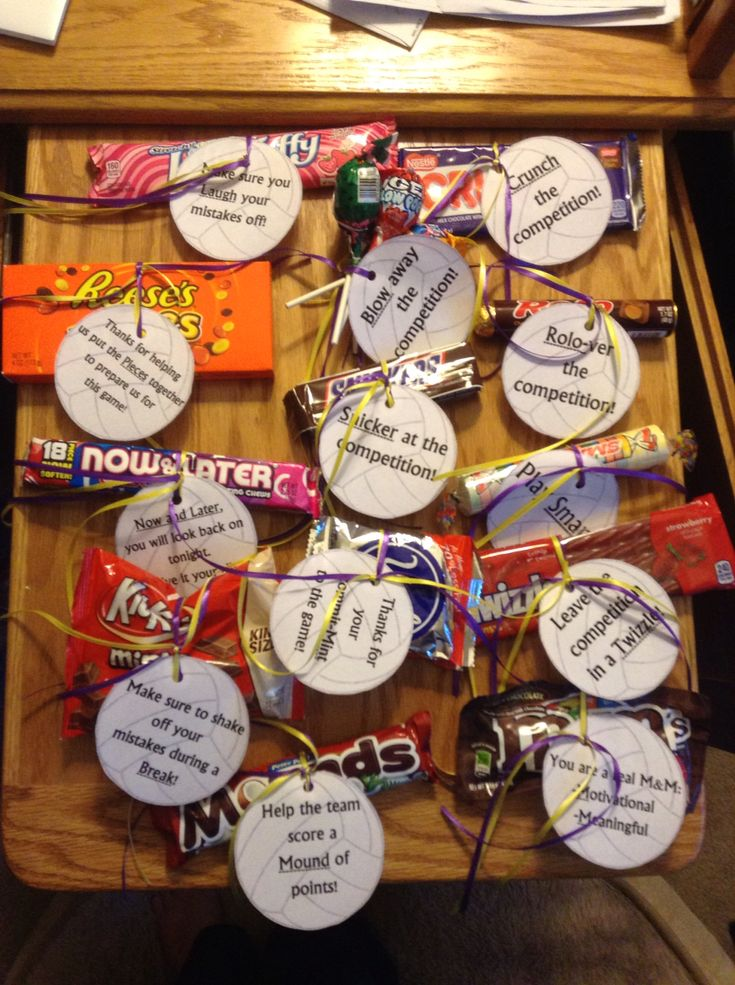 Volleyball motivational candy quotes!