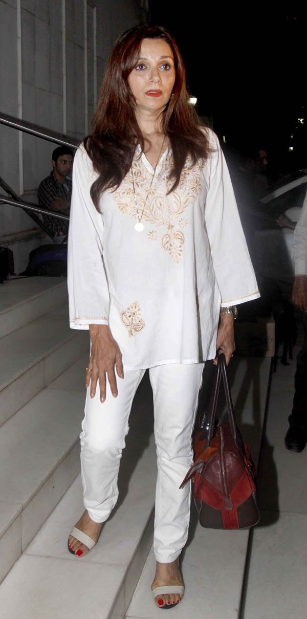 Lillete Dubey at prayer meet of singer Anup Jalota's wife Medha. #Bollywood #Fashion #Style #Beauty