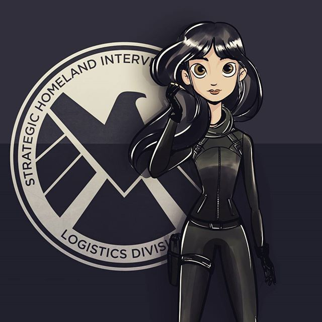 Agente Skye #skye #daisy #cholebennet #marvel #agentofshield #scketch #doodle #digitalart Busca más en  Instagram:  https://www.instagram.com/bajotinta/ book:  http://behance.net/bajotinta