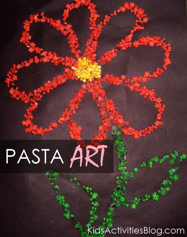 Neat Pasta Art Activity (instead of glitter)