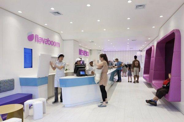 An Original Frozen Yogurt Shop in Manhattan: Flavaboom - http://freshome.com/2011/08/09/an-original-frozen-yogurt-shop-in-manhattan-flavaboom/