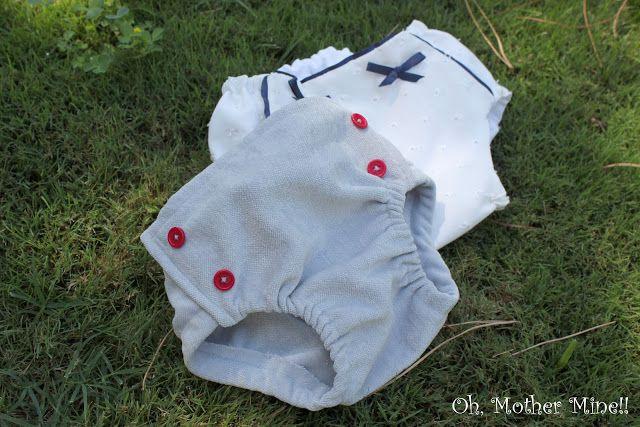 Tutorial: Cubre pañales para bebés DIY.