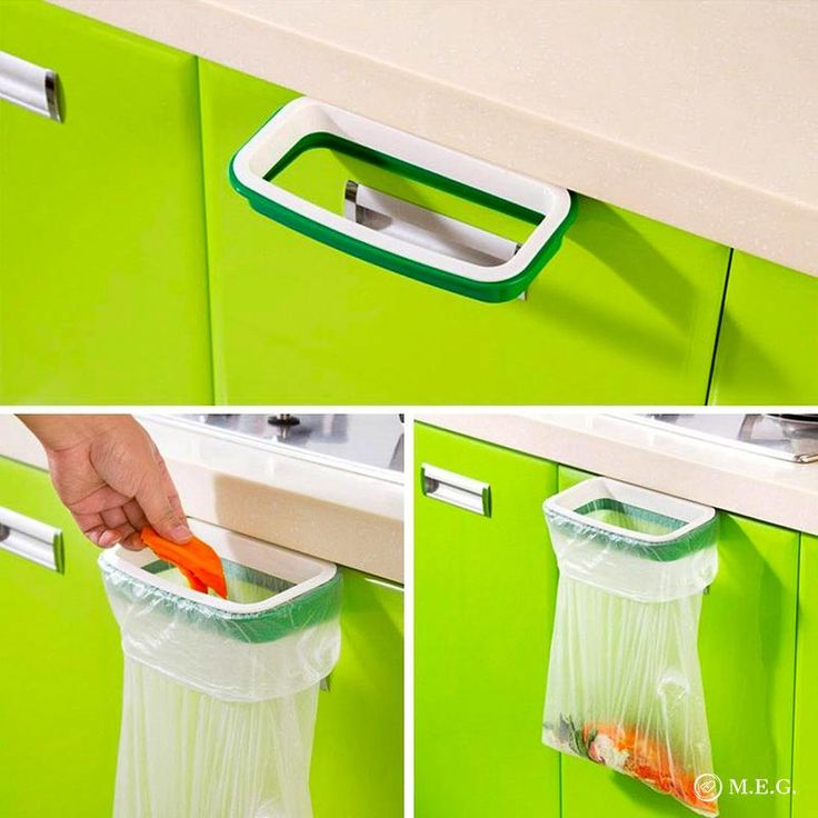 Help to keep your home or camper tidy and clean. Use for food scraps in the kitchen, an under the sink trash can in the bathroom, or a lint trash can in the laundry room. Can be hung on a door, cupboard, or drawer making it easy to stay tidy. This cupboard door trash bag holder is a valuable space saver in Camper Trail