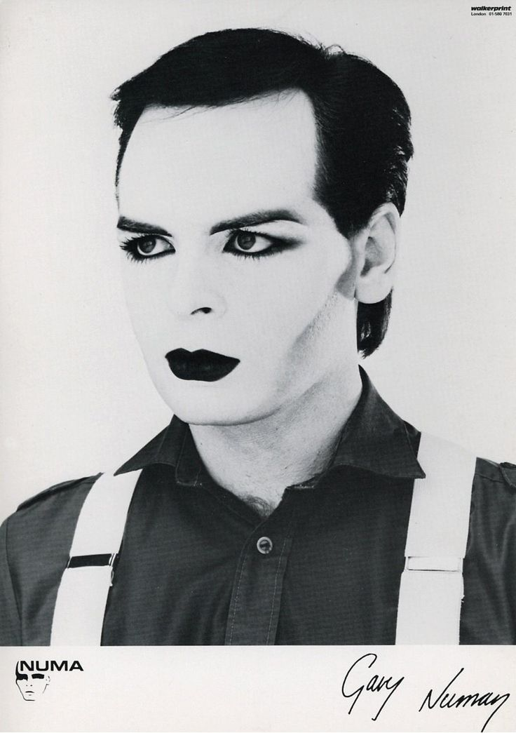 Gary Numan in a rare photo wearing heavy New Romantic style make-up  he also wore it in a video seen by few in America