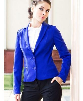 modny niebieski żakiet - 2012 - TrendCity.pl