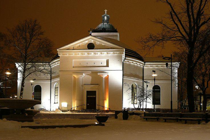 The church in Hämeenlinna (Finland)