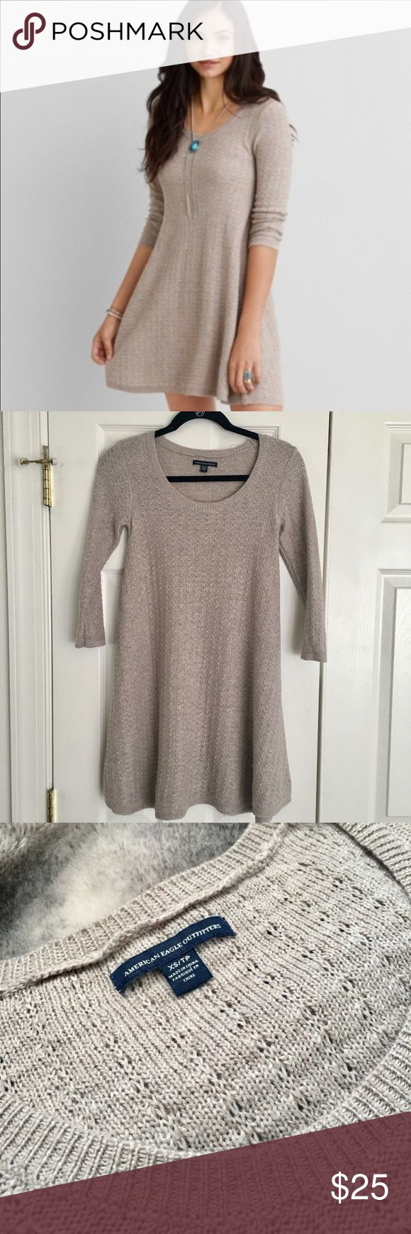 NWOT American Eagle Sweater Dress New without tags! Never got a chance to wear it! No flaws! American Eagle Outfitters Dresses Mini