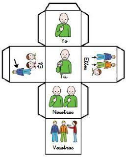 EL MALETÍN DE AUDICIÓN Y LENGUAJE: El dado de los pronombres (Masculino)