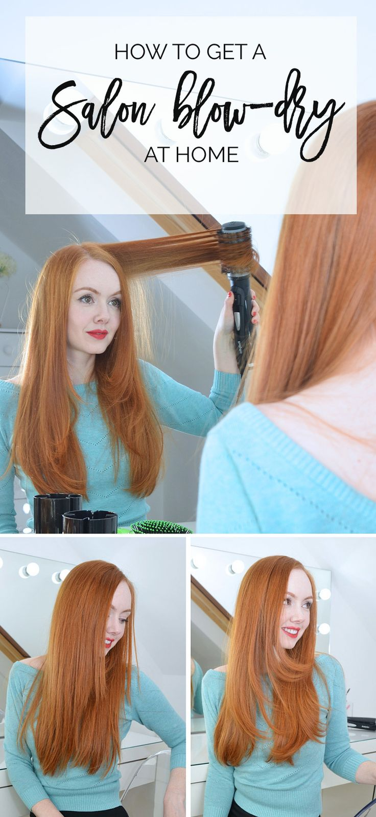 how to blow dry hair at home