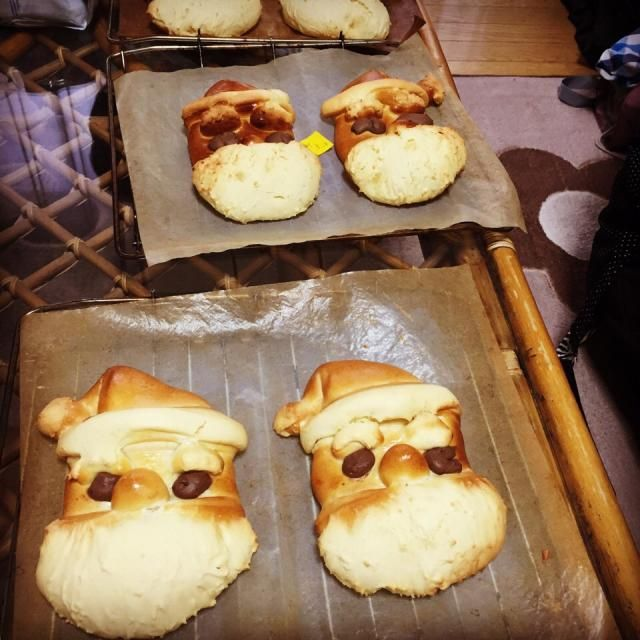 おひげとおめめと眉毛はクッキーで(^○^) - 24件のもぐもぐ - サンタパン by ともみ
