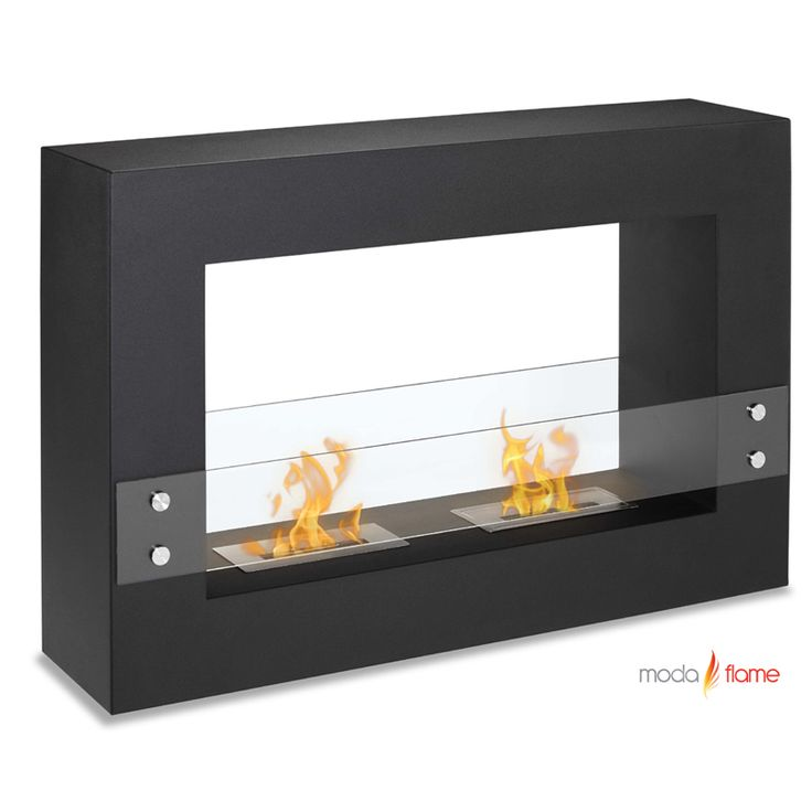 Designed With A Sleek Steel Powder Coated Rectangular Frame, The Alcoi Free Standing  Ethanol Contemporary Fireplace Asserts A Bold Look With Dual Burner And ...