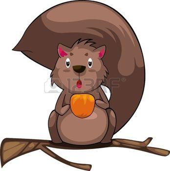 eekhoorns%3A+illustratie+cartoon+Eekhoorn+vector+Stock+Illustratie