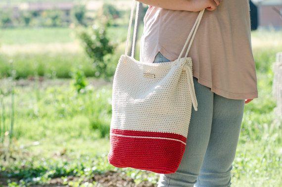 Gehaakte tas Barcelona Rode handtas tas vrouw door MyLovelyHook