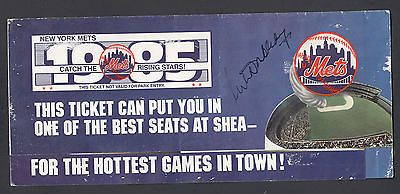 Nelson Doubleday Autographed 1985 New York Mets Season Ticket Brochure
