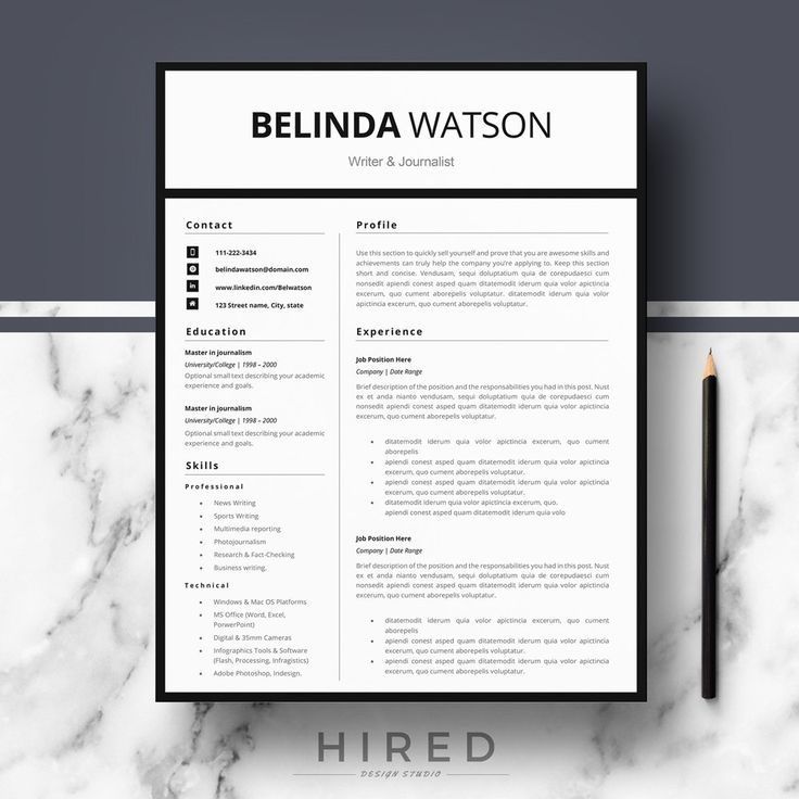 19 best Minimalist Resume   CV Templates images on Pinterest - microsoft word resume template for mac