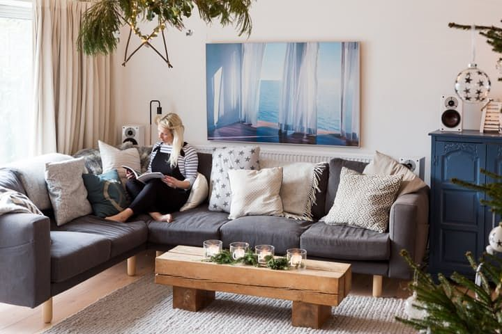 House Tour Christmas In A Rustic Modern English Home Ikea CouchApartment LivingApartment