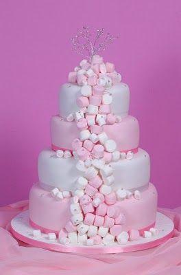 Marshmallow Wedding Cake - love it!    Found at Bridetide.com