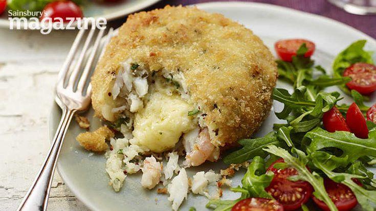 Image: Melting middle smoked haddock and prawn fishcakes