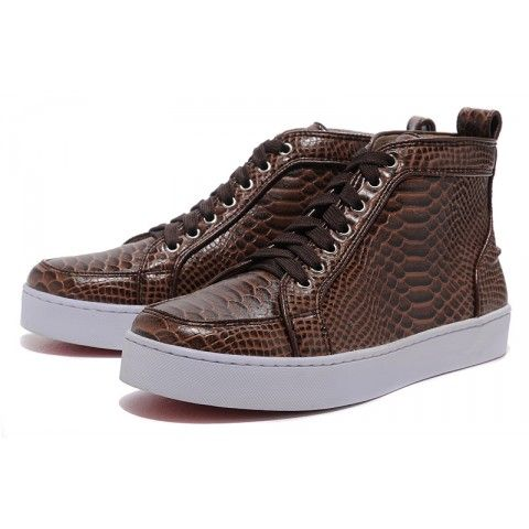 Christian Louboutin Louis Flat Mens Sneakers Brown