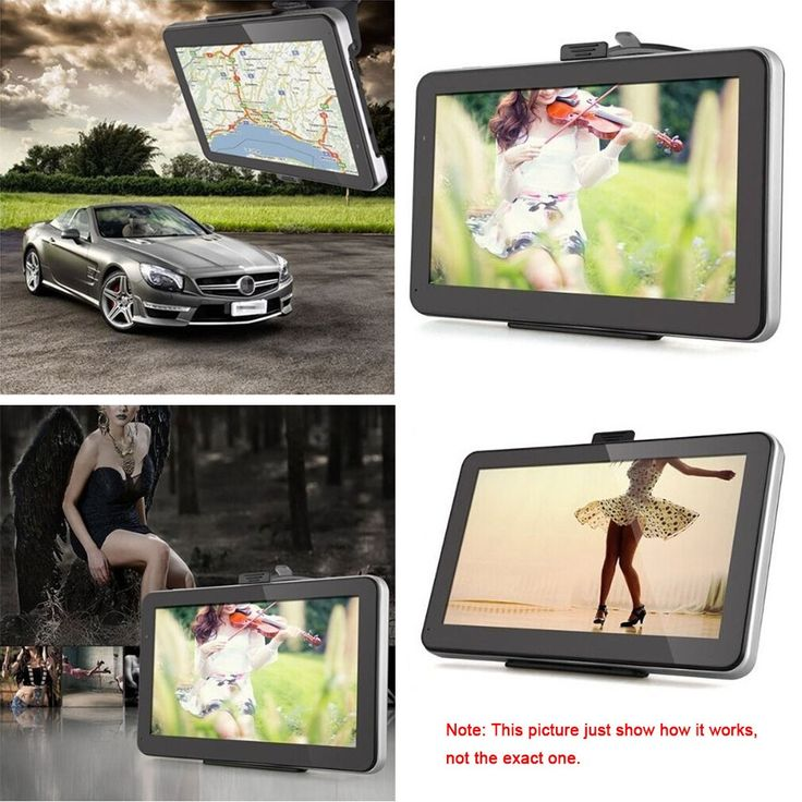 7″ HD Touch Screen Portable Car GPS Navigation 128MB RAM 4GB FM Video Play Champagne Gold Car Navigator with BT +Free Map