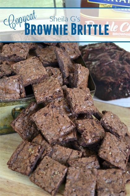 Copycat Sheila G's Brownie Brittle | Fluster Buster