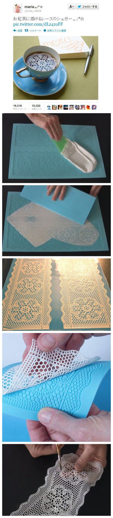 Lace Sugar!!!!! how cool is this! @Vicki Smallwood John