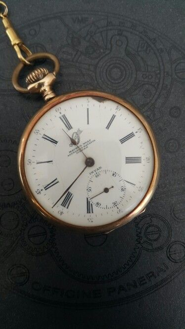 Invar Gold Pocket Watch.. Maurice Wolf