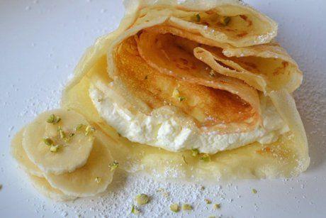 Palatschinken mit Bananenquark - Rezept