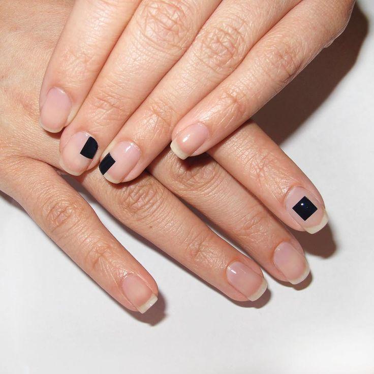 Simple modern nail art