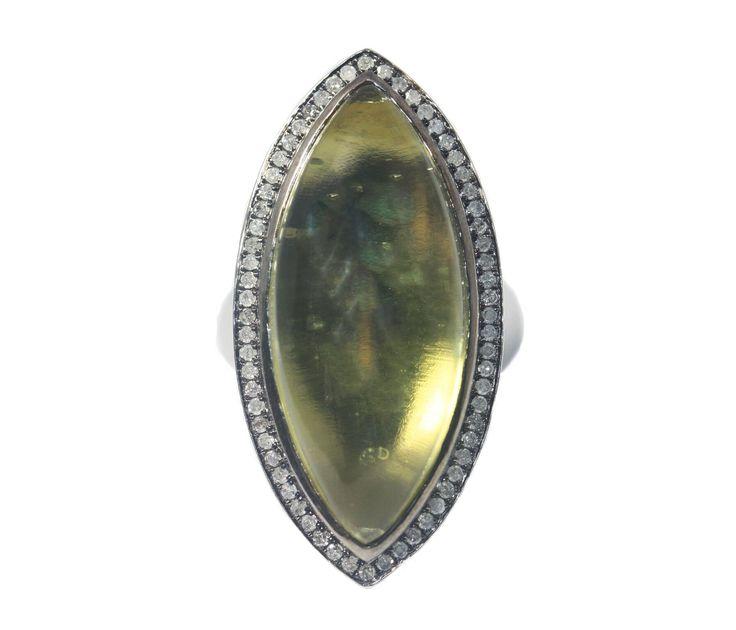 Antoinette Ring Silver Lemon Quartz