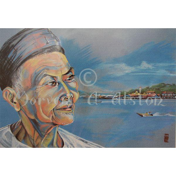 Reminiscing by Morven A. Alston. Artwork created in: Bandar, Brunei