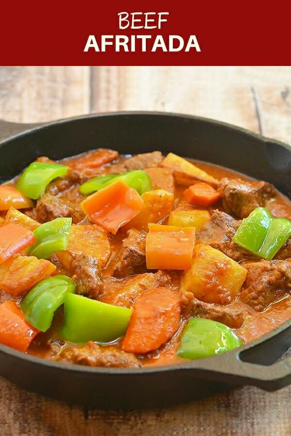 Beef Afritada Recipe Recipes Beef Recipes Asian Cooking