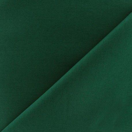 Tissu Popeline vert sapin