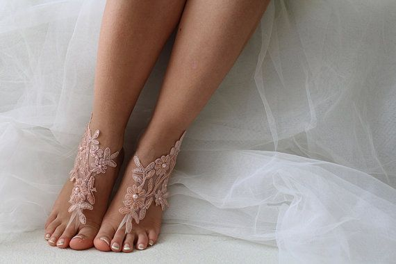 Hey, I found this really awesome Etsy listing at https://www.etsy.com/listing/276559450/beaded-pink-lace-wedding-sandals-free