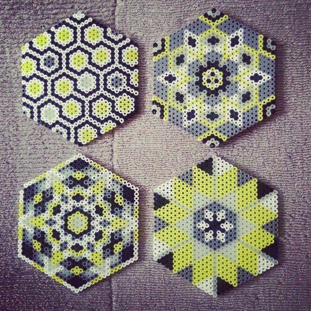 Coaster set hama beads by sjfulty