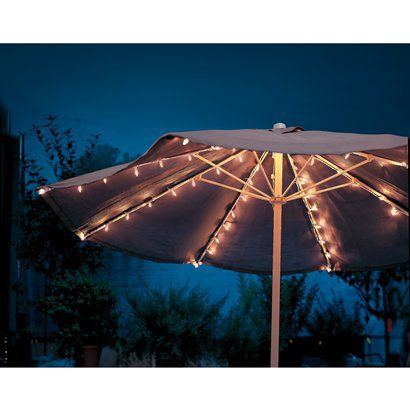 String Lights Under Umbrella : 17 Best ideas about Umbrella Lights on Pinterest Patio umbrella lights, Outdoor shade and ...