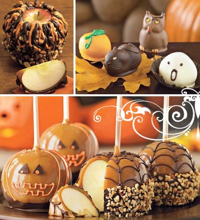 oh caramel apples are perfect for halloween! cant wait to make these!