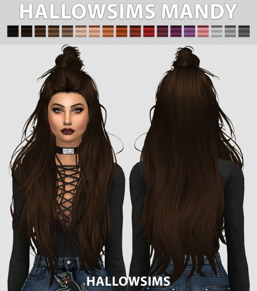Sims 4 CC's - The Best: Mandy Hair by HallowSims
