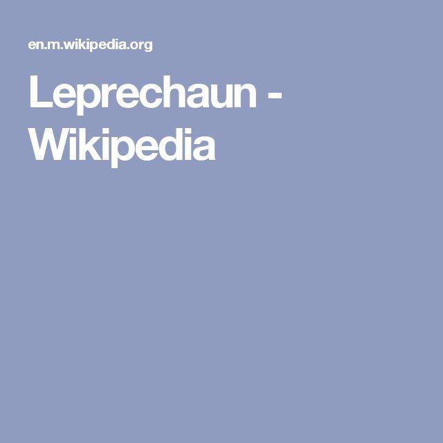 Leprechaun - Wikipedia