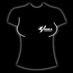 MRA Womens Black T-Shirt    Shawn Michaels' MacMillan River Adventures Signature Women's T-Shirt. Black with White MRA Hunting Logo on the front.
