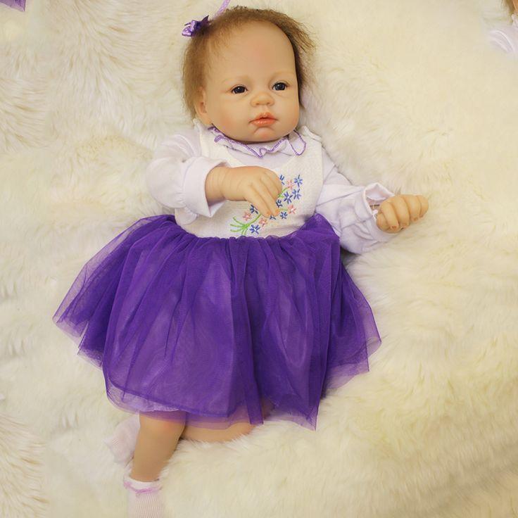 50cm silicone reborn baby Sleeping Dolls Toy For Sale Cheap Vinyl Newborn Princess Girls Babies Dolls Birthday Gift Present #Affiliate